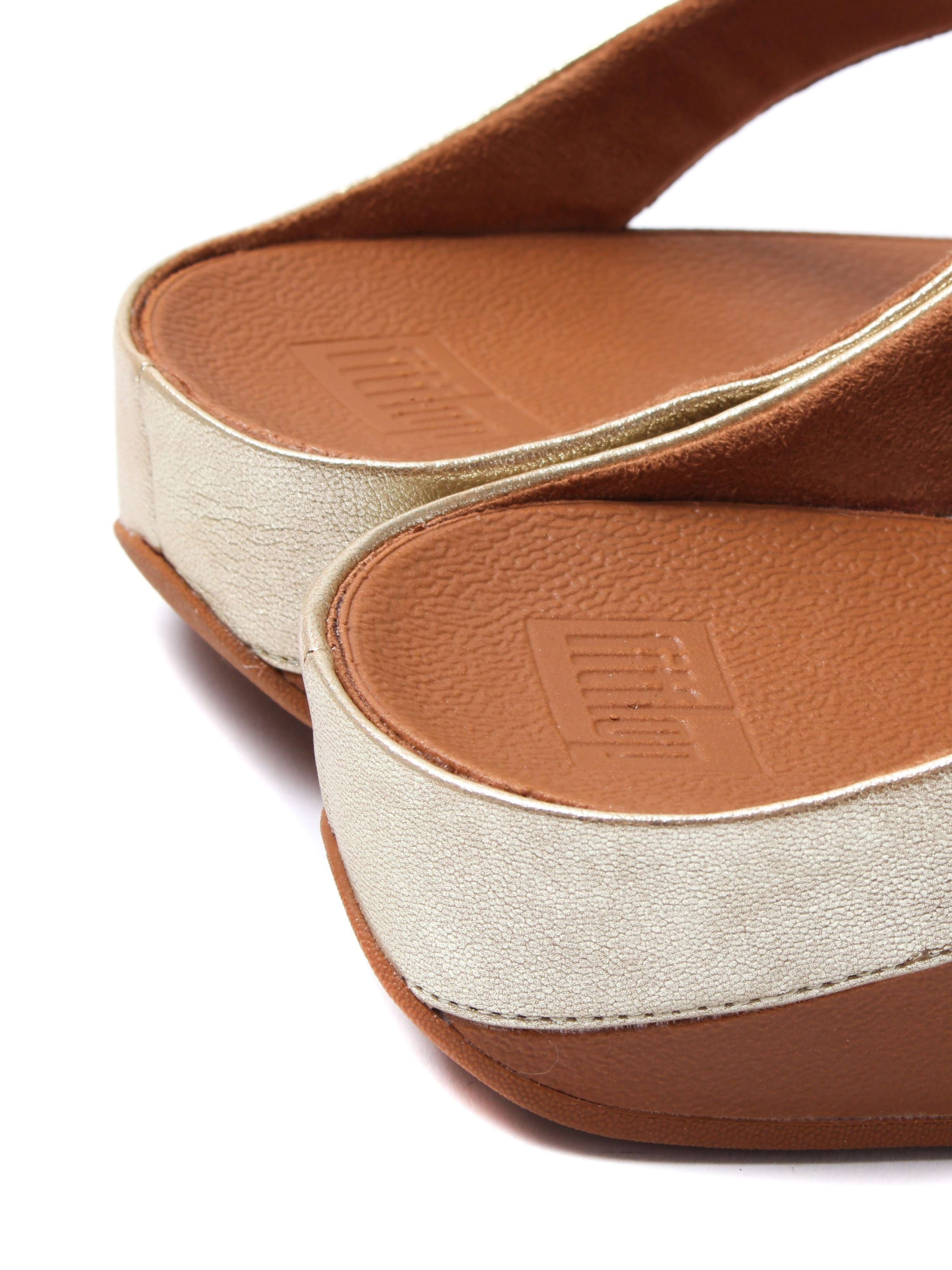 FitFlop Women's Roka Toe Thong Sandals - Gold Leather