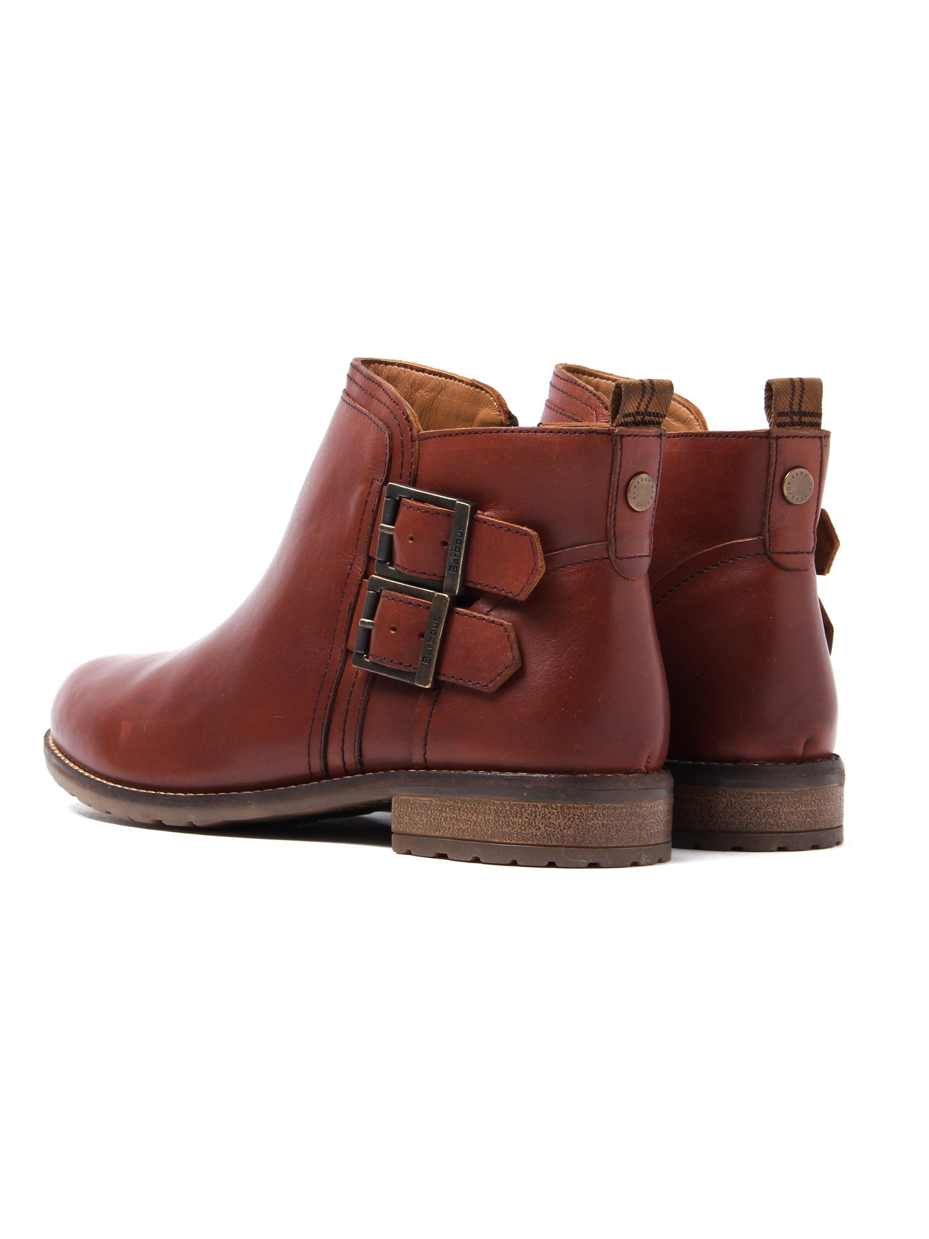 Barbour Women's Sarah Low Buckle Boots - Chestnut Leather