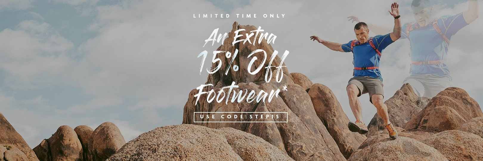 An extra 15% off Footwear