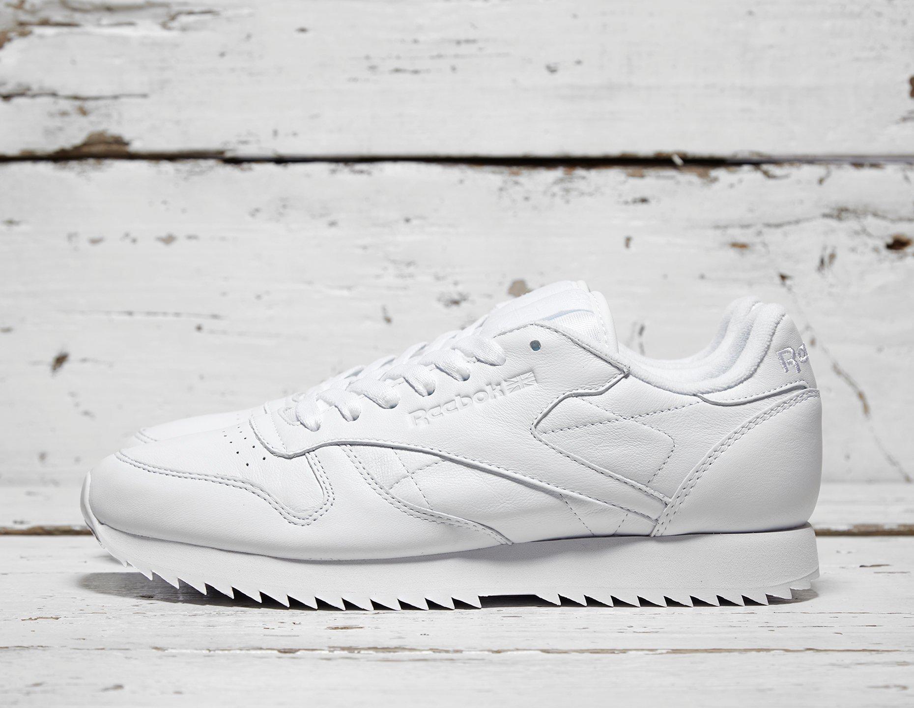Mens Reebok Classic Leather Ripple - White, White - photo 1/1
