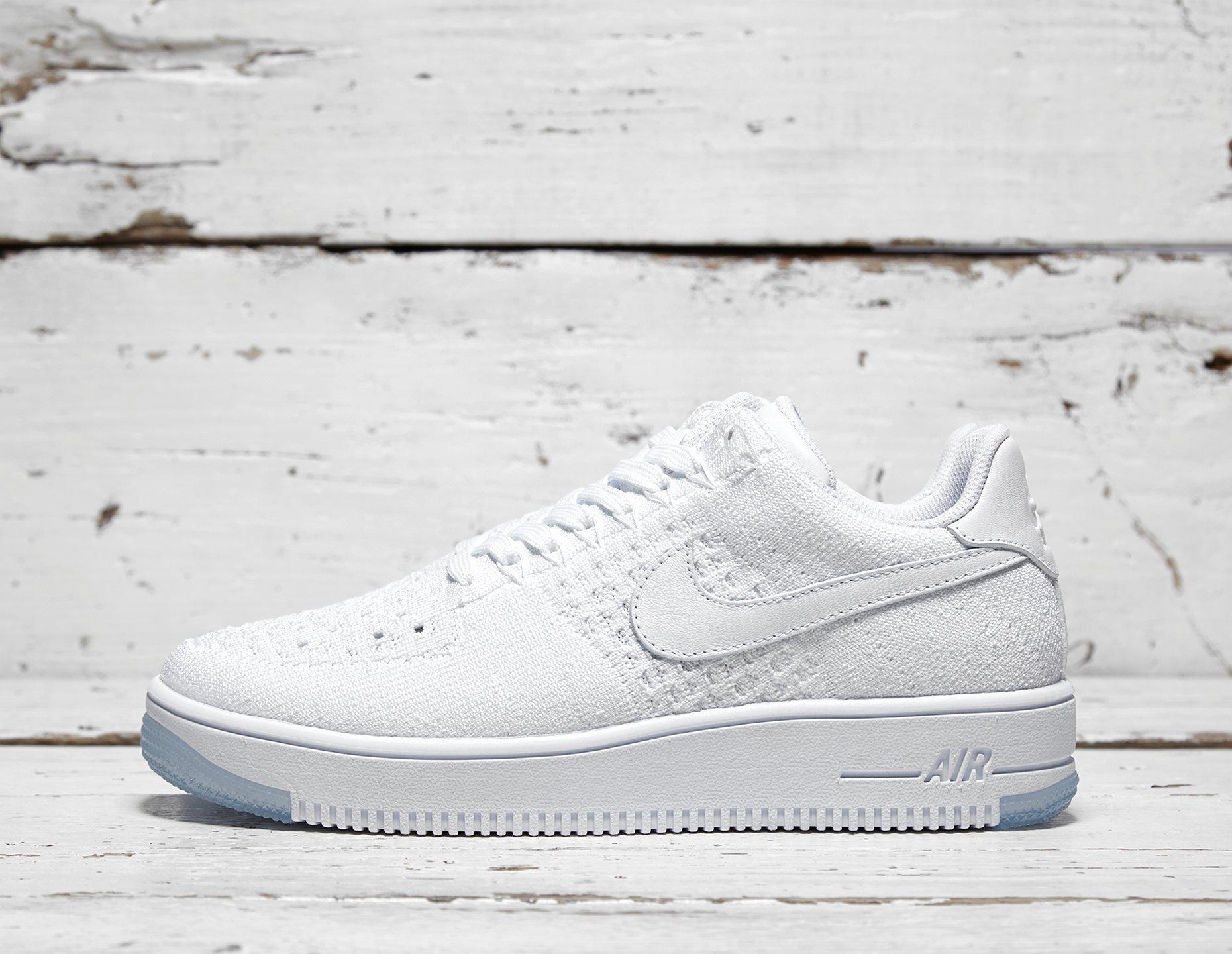 Womens Nike Air Force 1 Flyknit Women's - White, White - photo 1/1