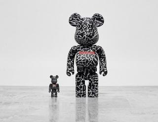 x atmos 'Elephant' Bearbrick 100% + 400%