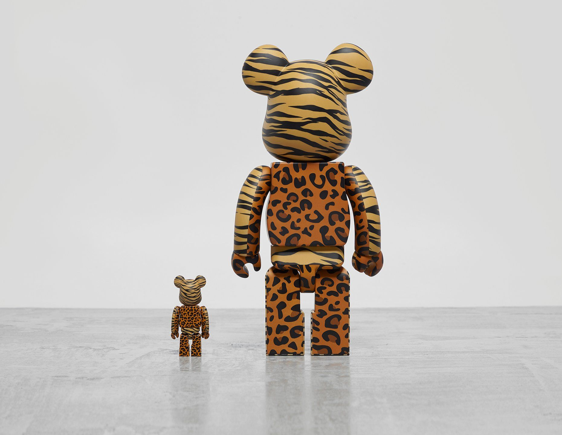 Medicom x atmos 'Animal Print' Bearbrick 100% + 400%