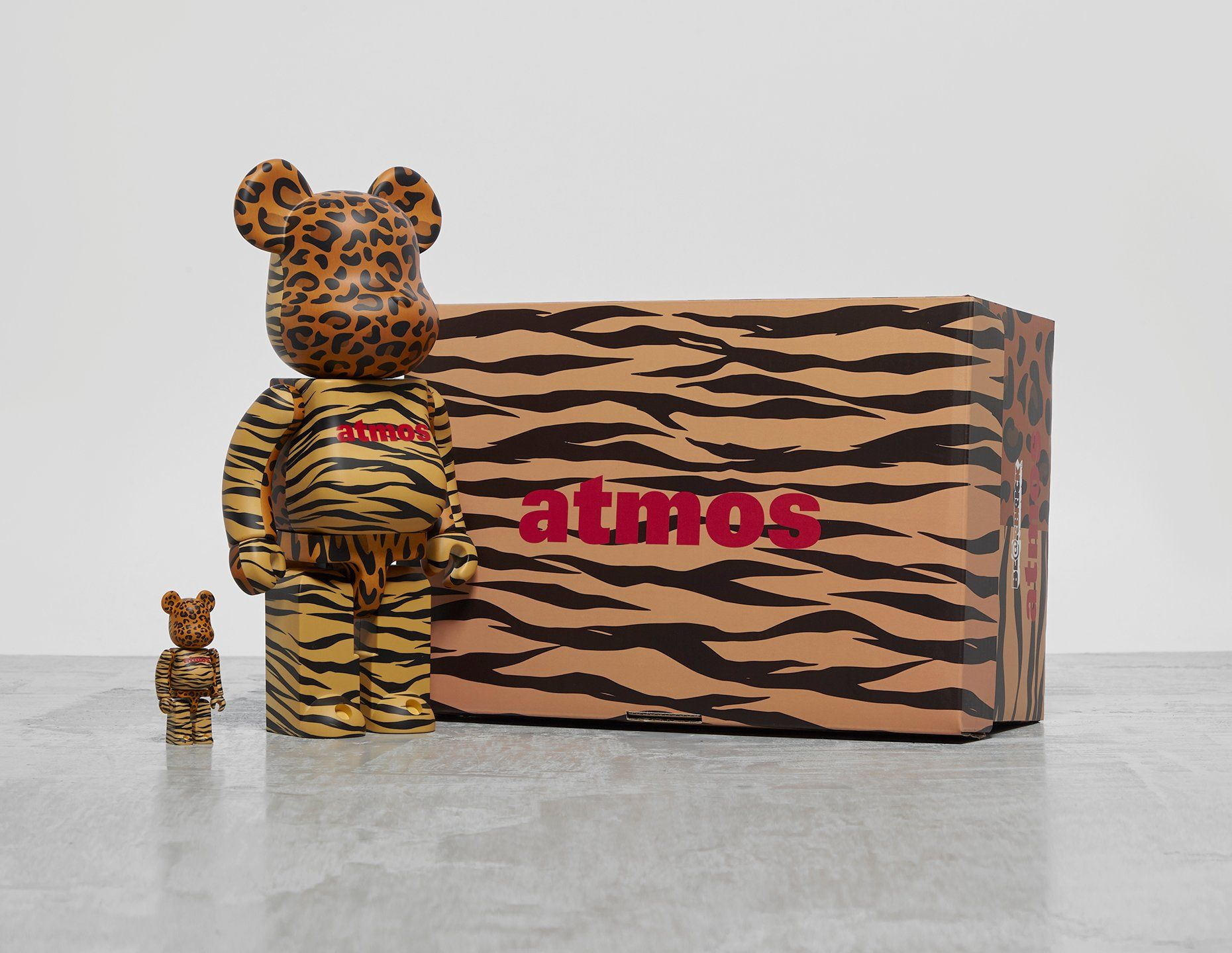 Medicom x atmos 'Animal Print' Bearbrick 100% + 400%