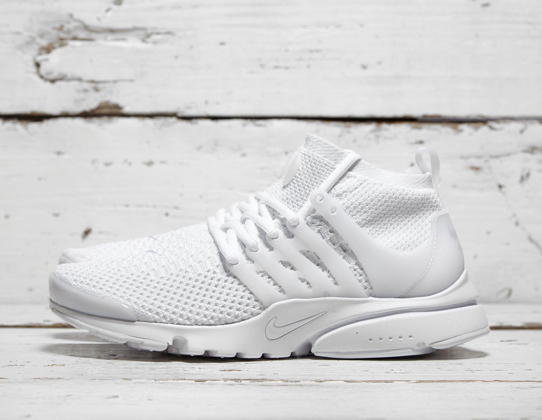 Mens Nike Air Presto Ultra Flyknit - White, White - photo 1/1