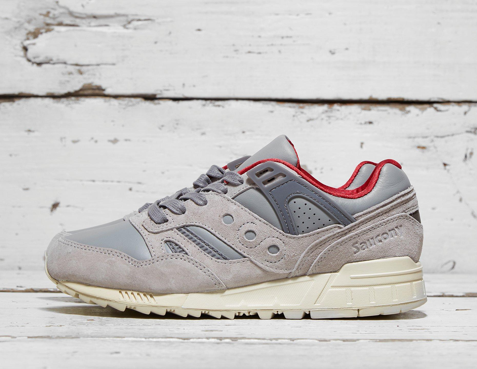 Mens <strong>Saucony</strong> Grid SD 'Public Gardens' - Grey/Red, Grey/Red - photo 1/1