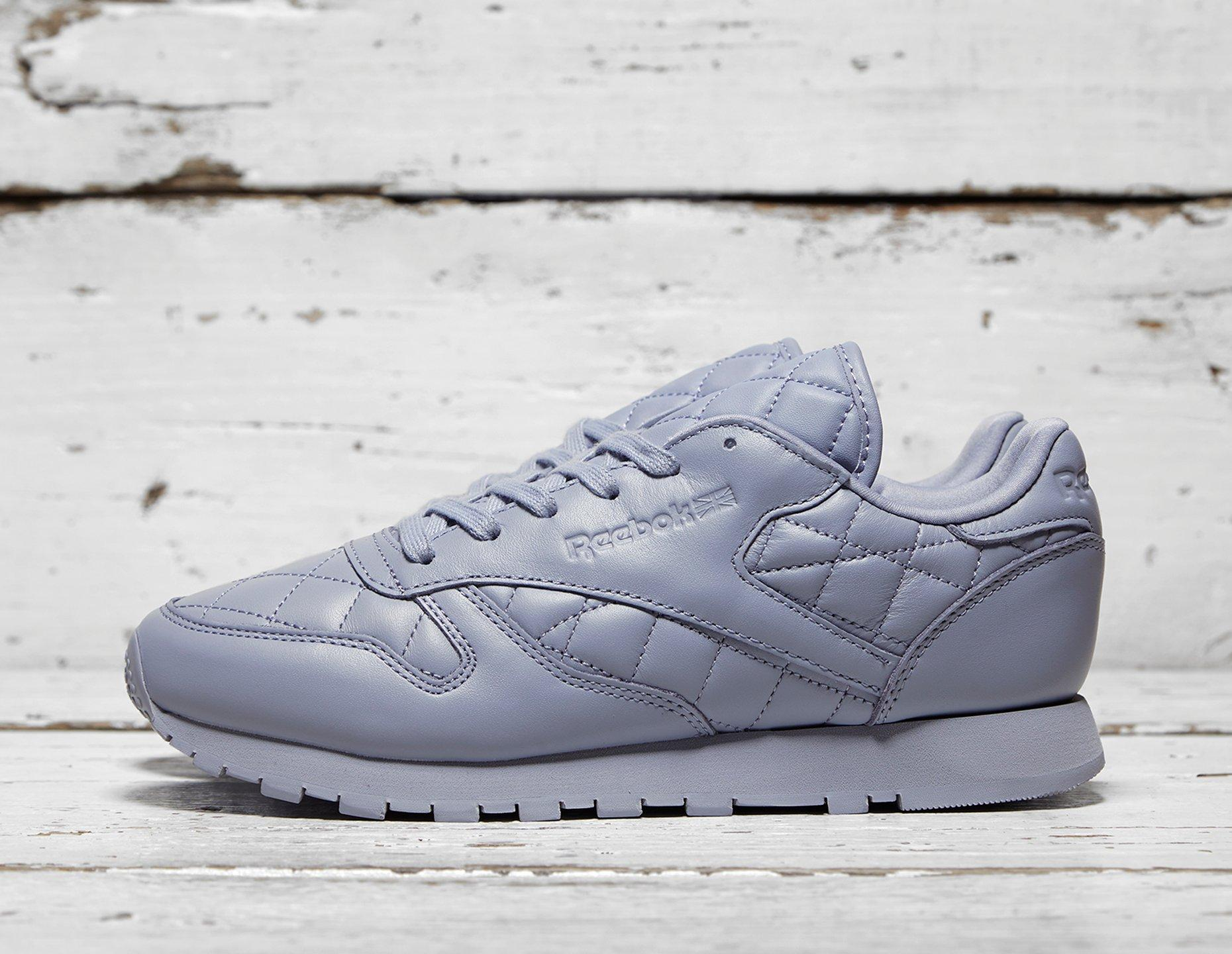 Womens Reebok Classic Leather Quilted Pack Women's - Purple, Purple - photo 1/1