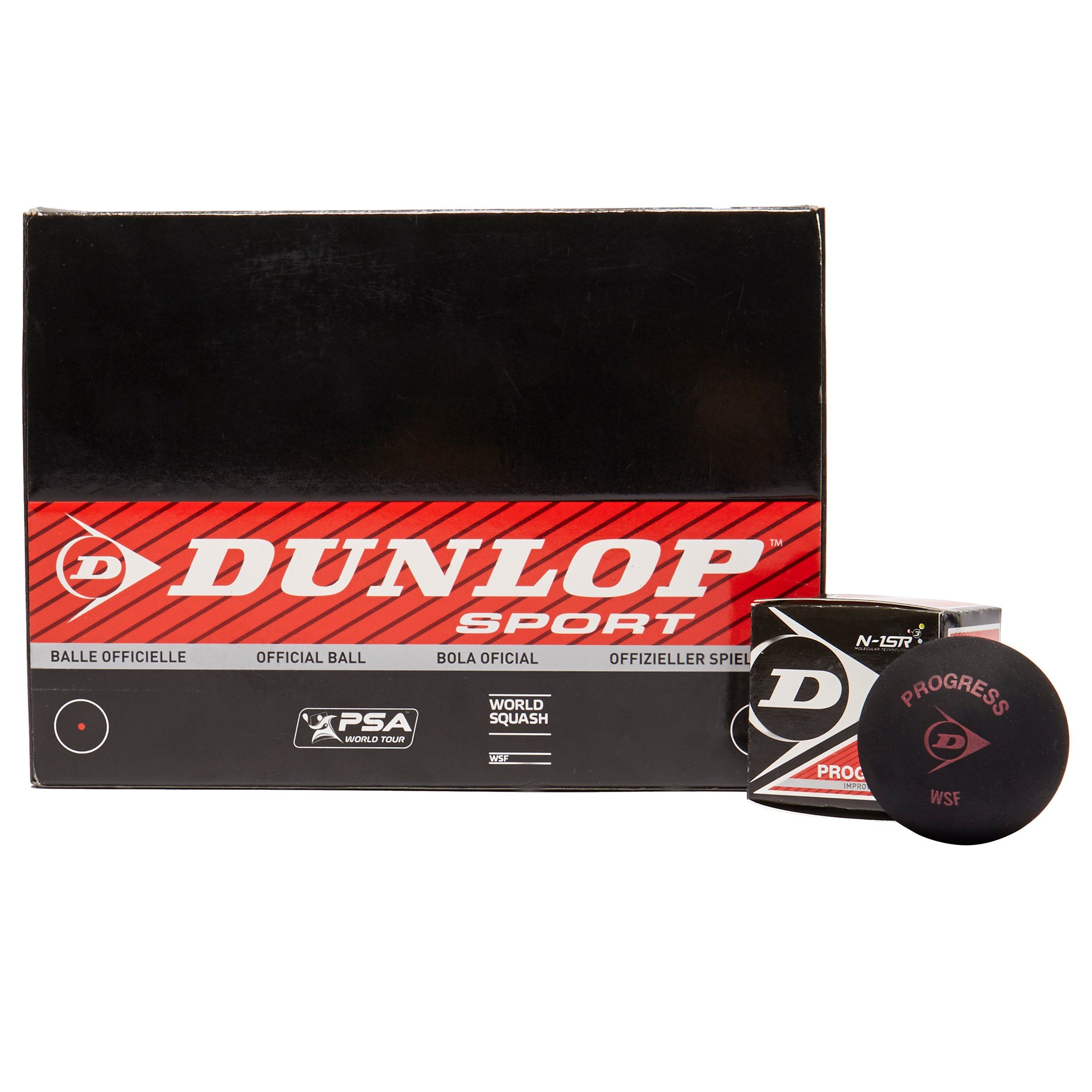 Dunlop Progress Squash Balls (12 Pack)