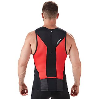 2XU Perform Rear Zip Men's Triathlon Tank Top