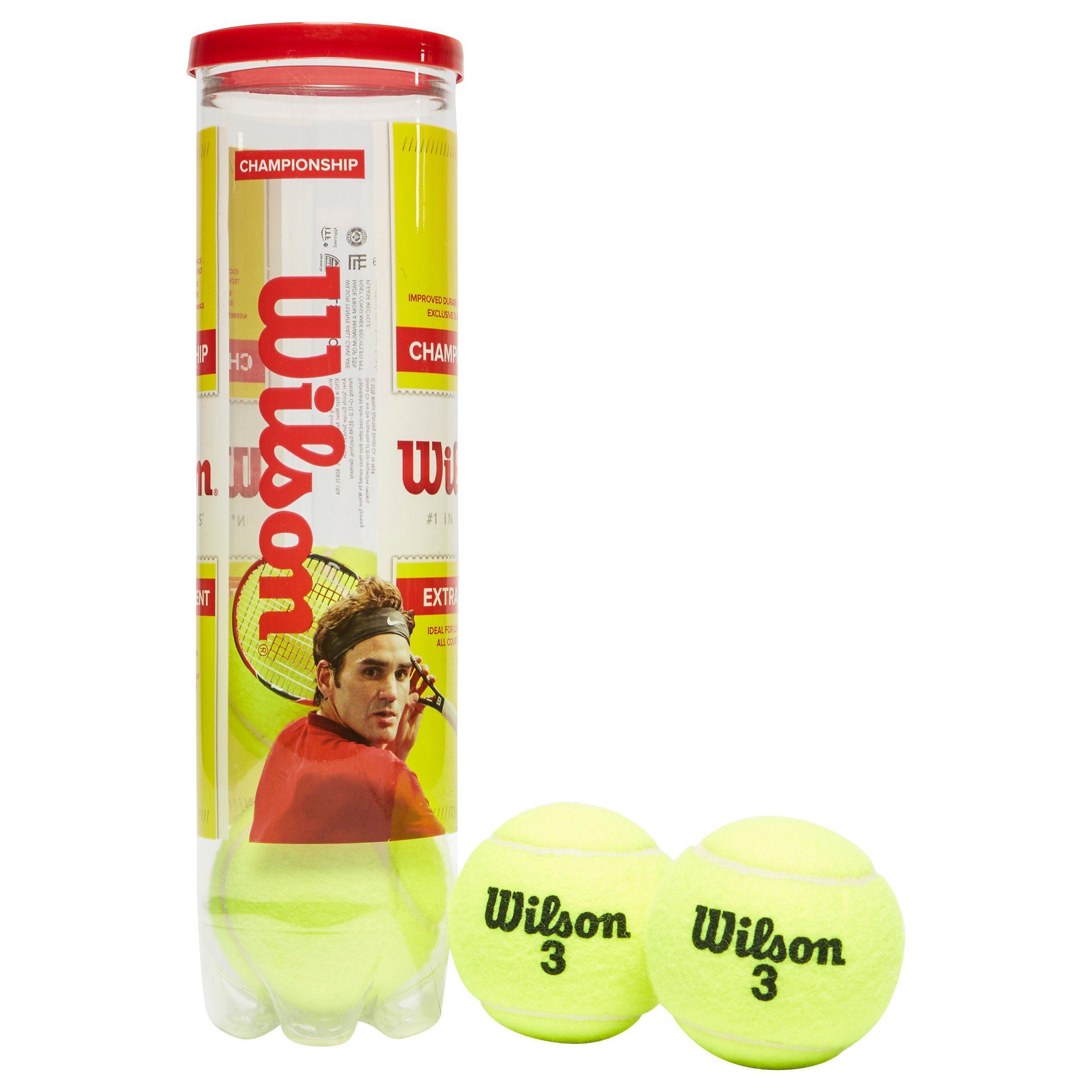 Wilson Championship Extra Duty Tennis Ball Can (4 Ball Can)