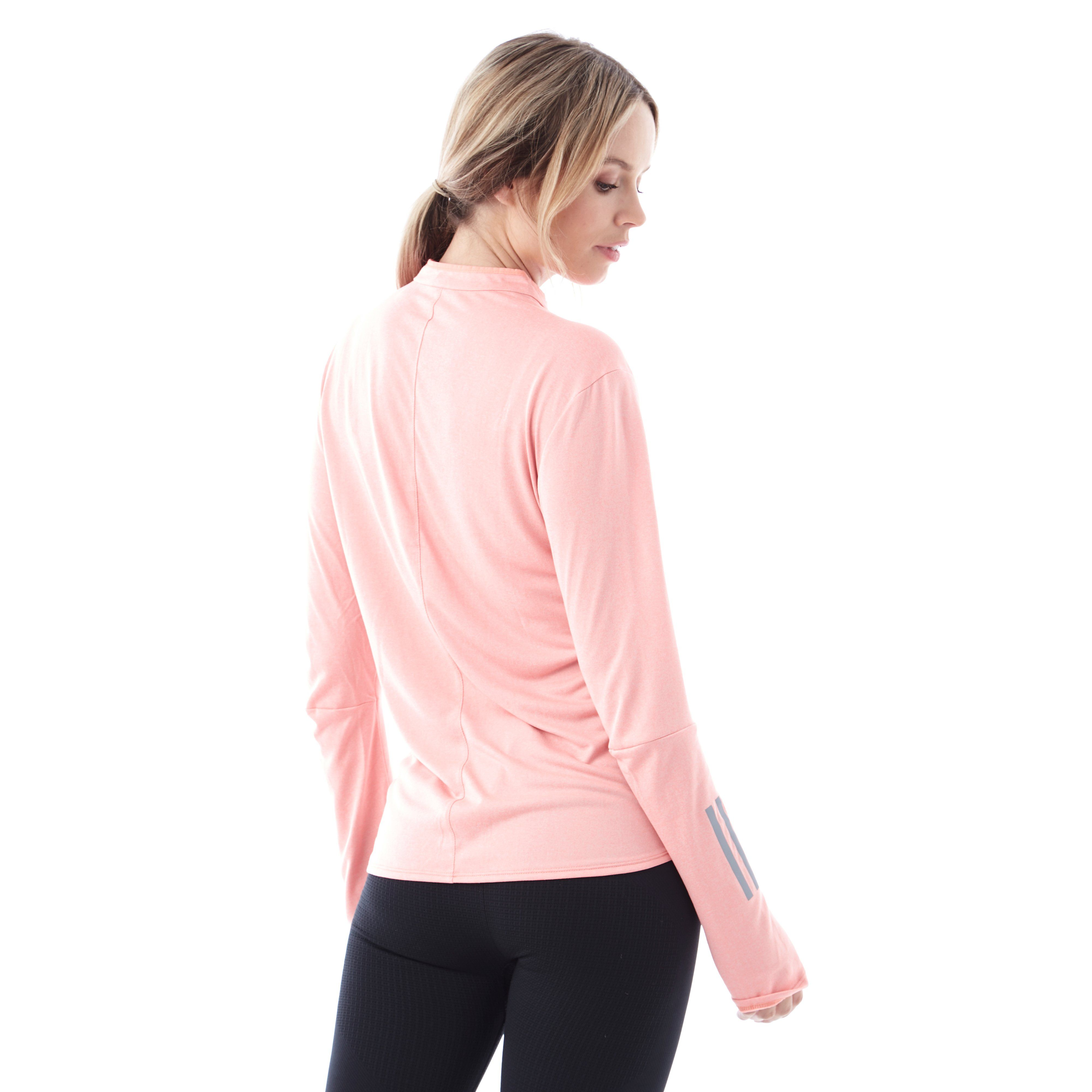adidas Response Long Sleeve ½ zip Women's Running Top