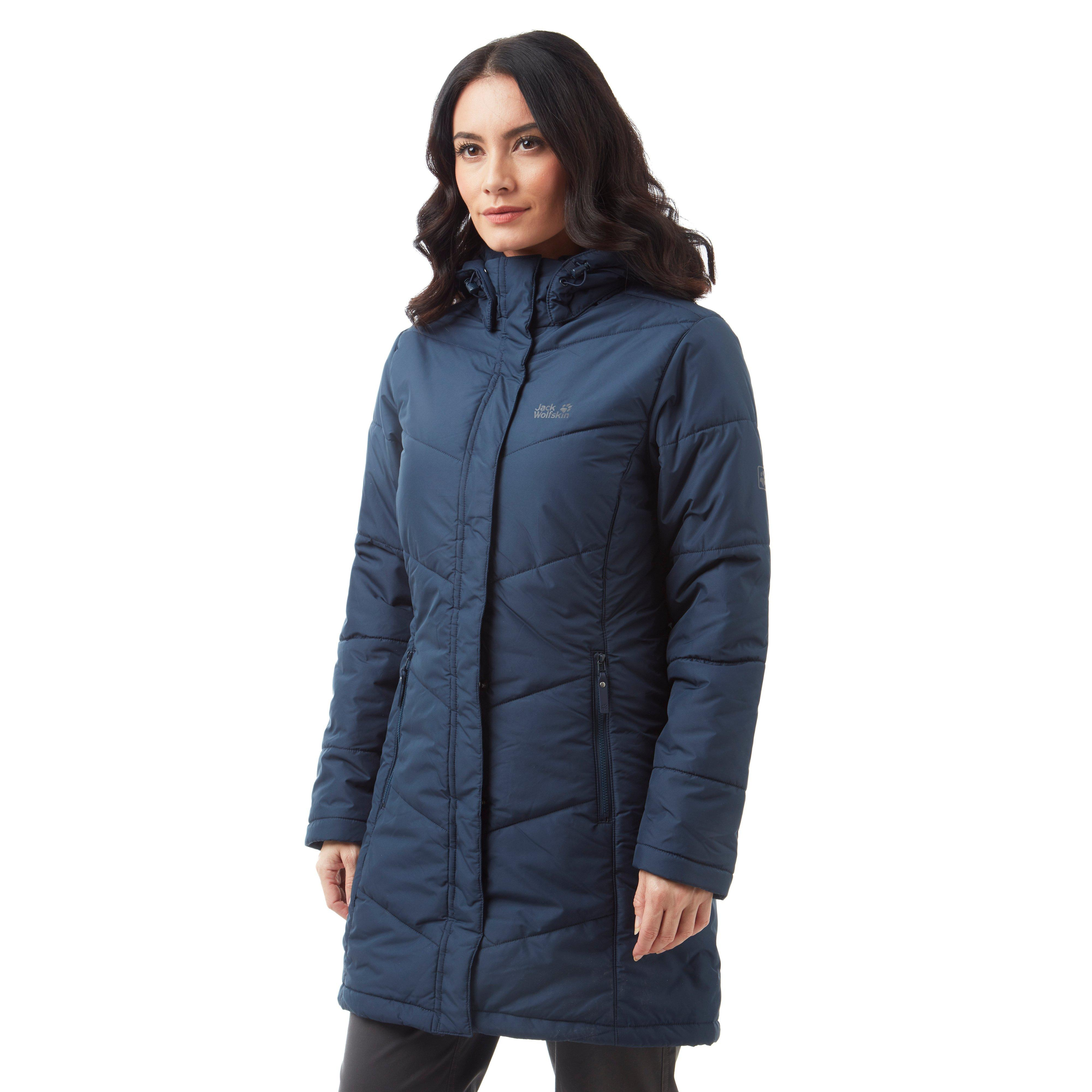 40b2e89ff3 Details about Jack Wolfskin Svalbard Windproof Women's Coat Navy