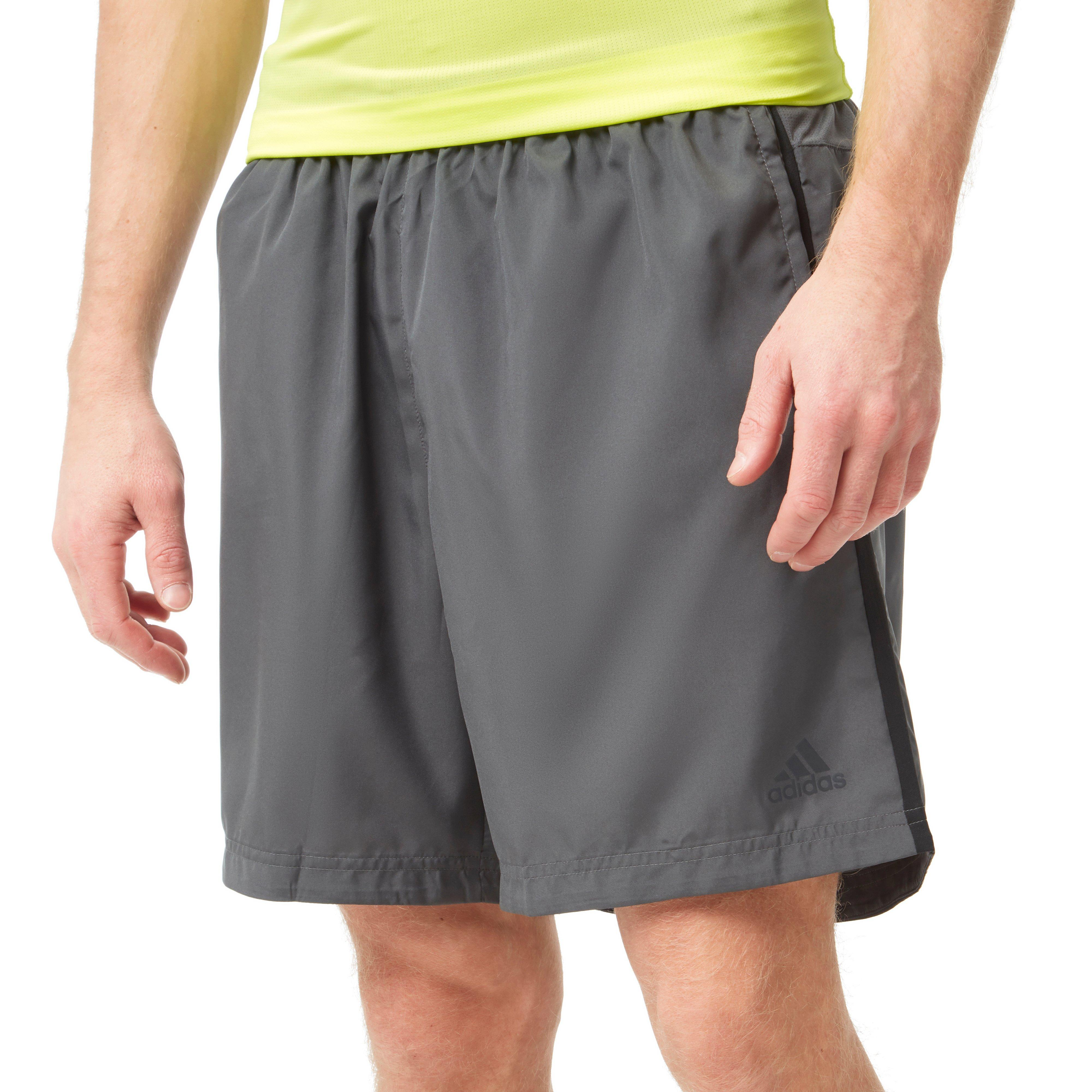 Details about adidas Own The Run 5 Inch Mens Running Shorts Black Breathable Run Shorts