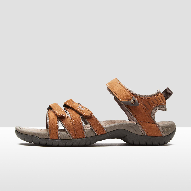 00d1efae824d70 Details about New Teva Tirra Leather Women s Sandals Slide On Velcro Strap  Rust