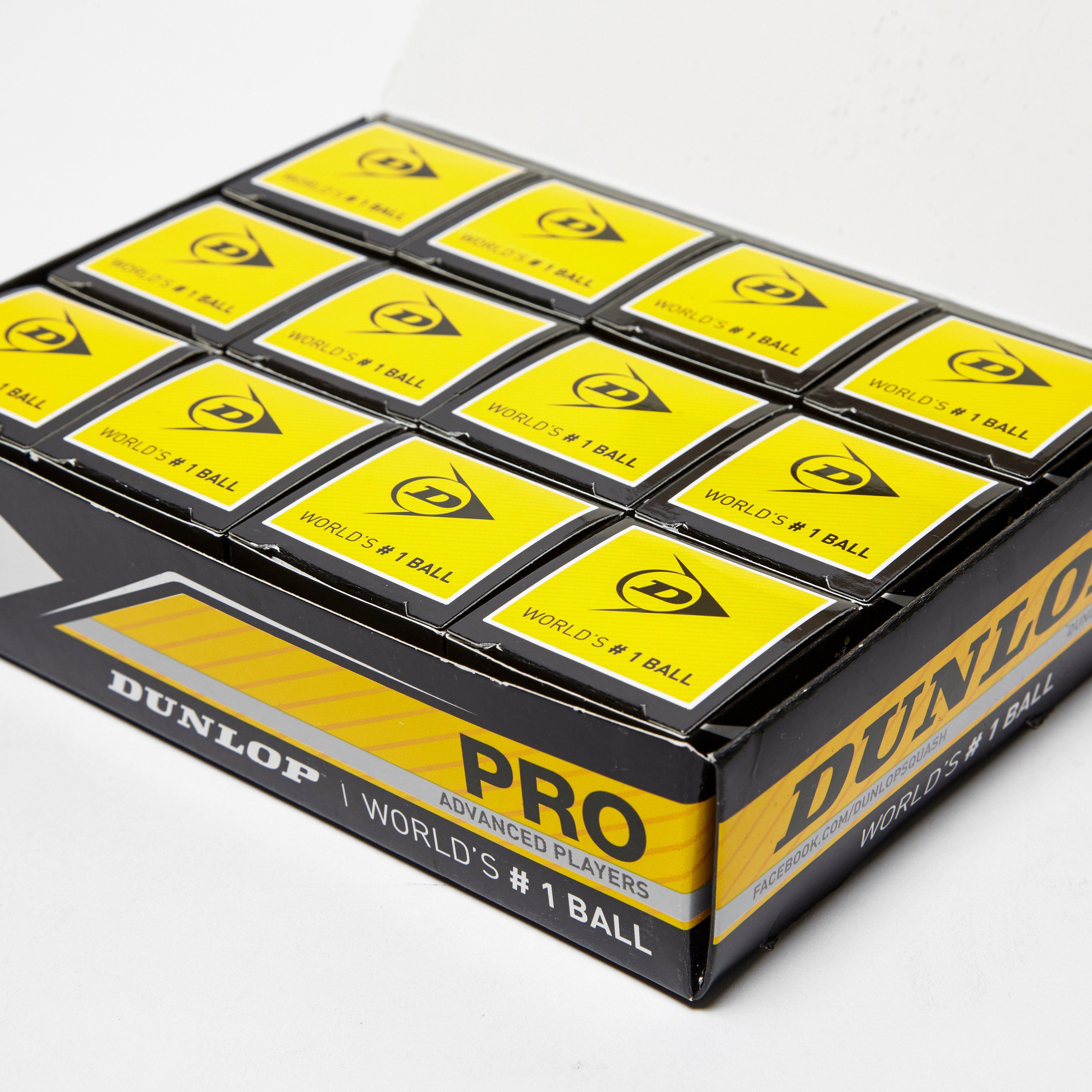Dunlop Pro Squash Balls (12 Ball Box)