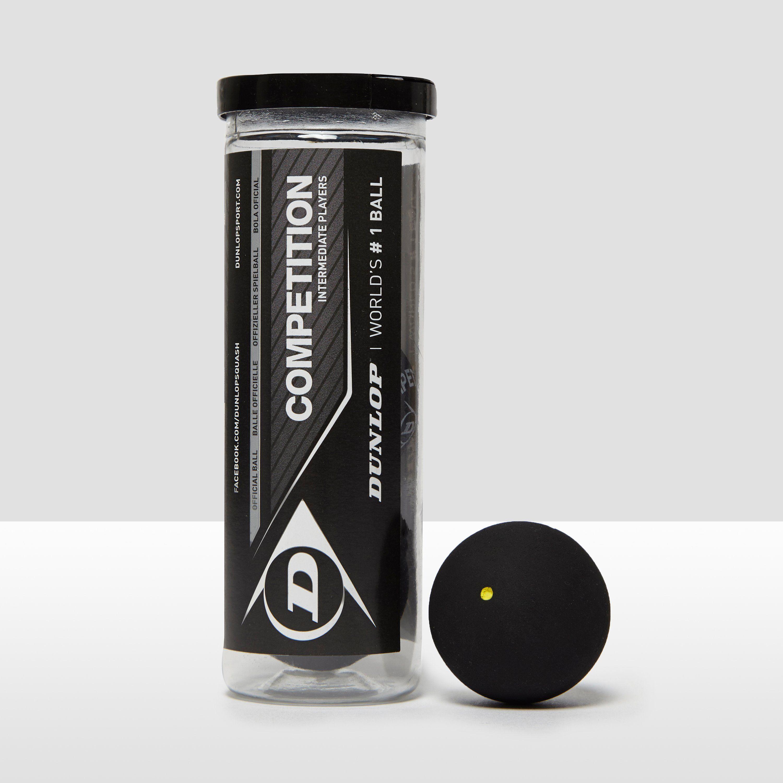 Dunlop Competition Squash Balls (3 Ball Can)