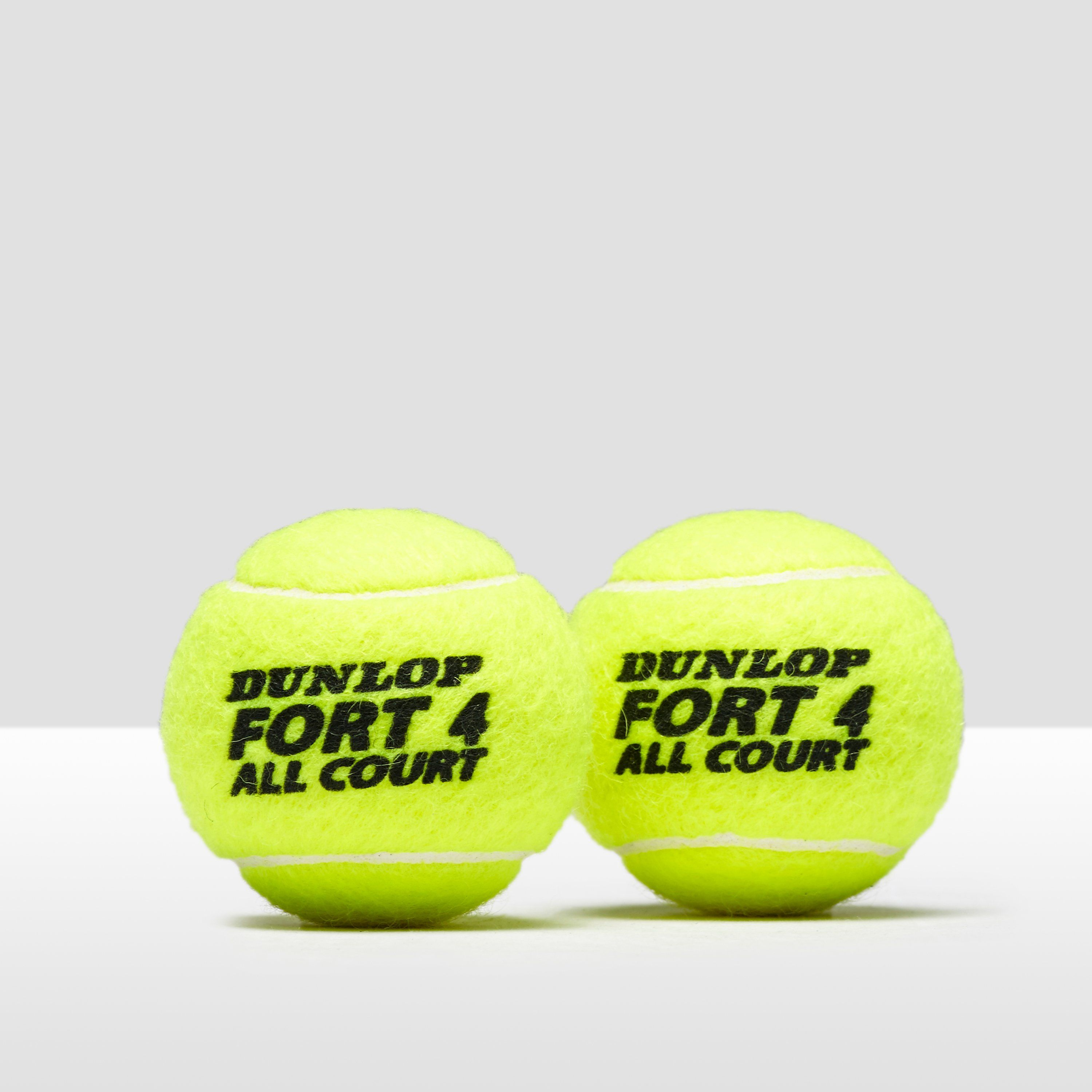 Dunlop Fort All Court Tennis Balls 4 Ball Can Activinstinct