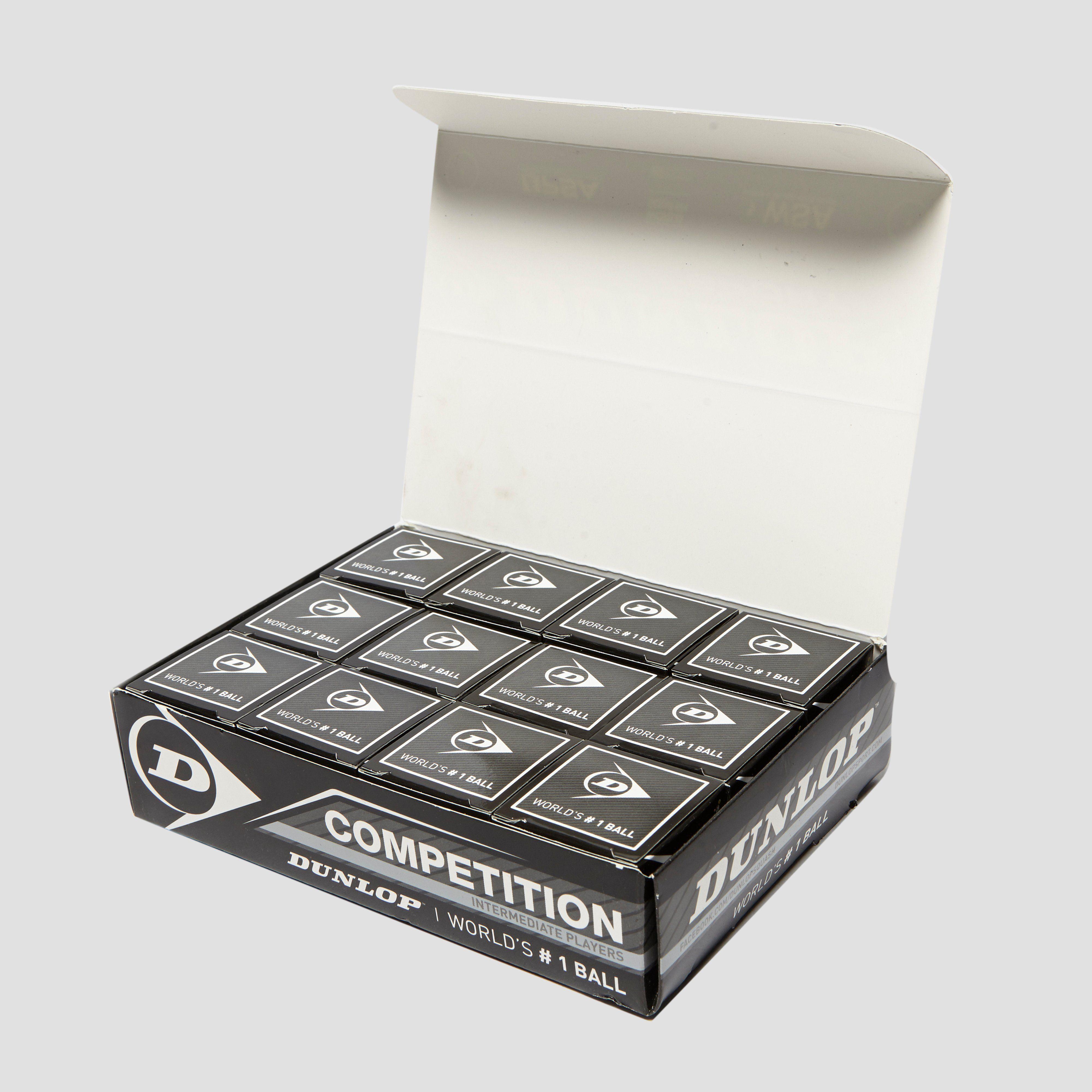 DUNLOP Competition Squash Balls (12 Ball Box)