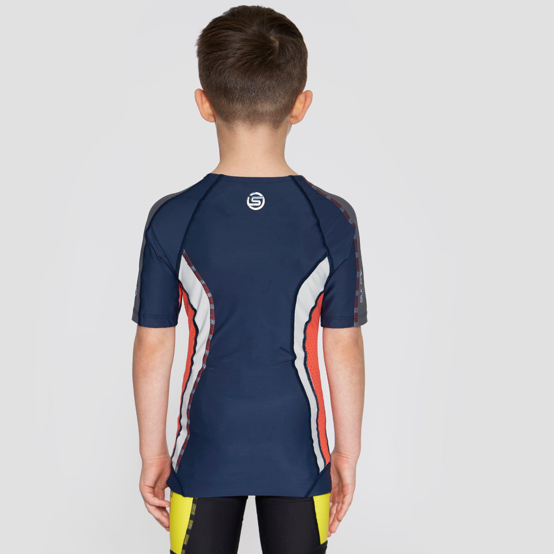Skins DNAmic Short Sleeve Junior Compression Top