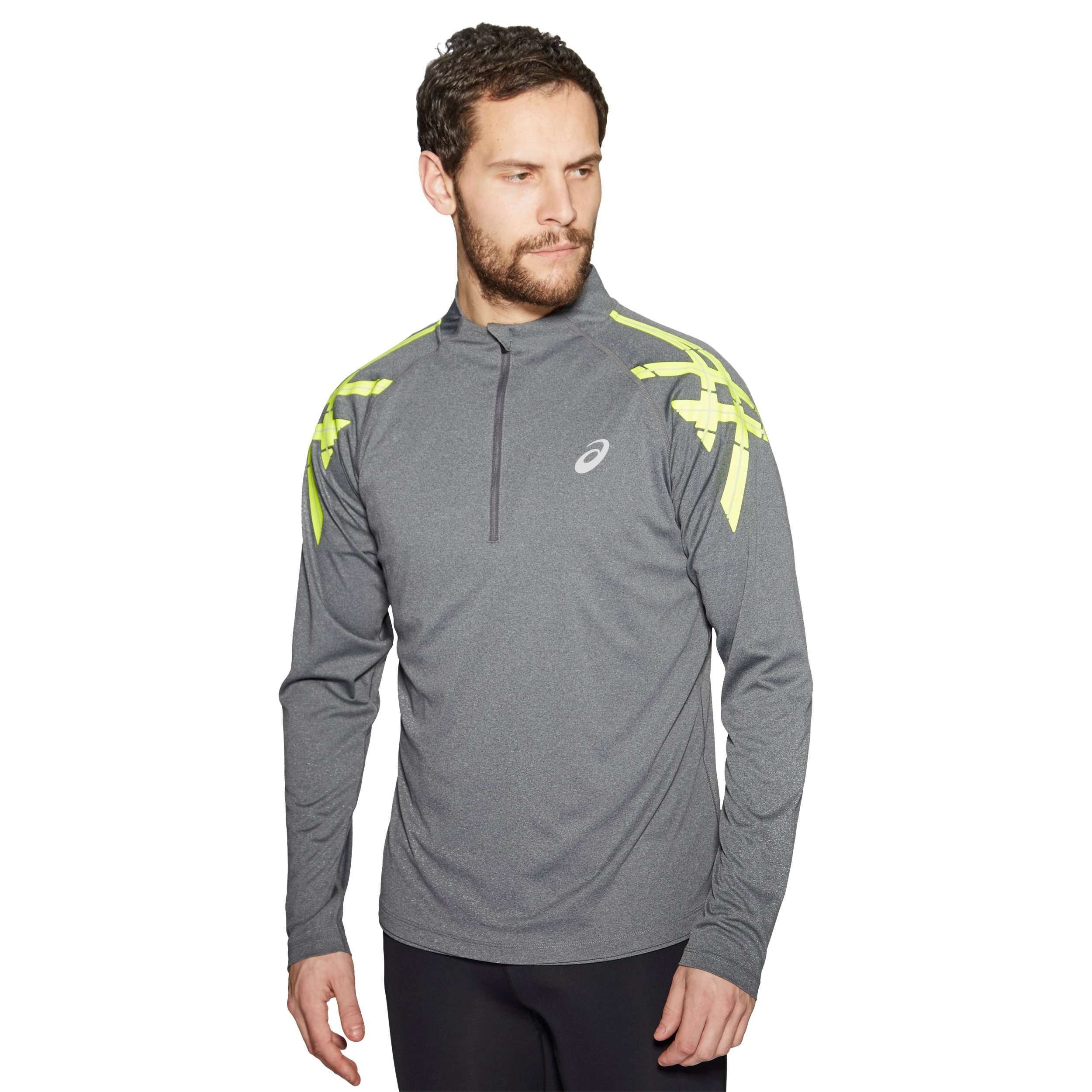 Asics Stripe 1/2 Zip Long Sleeve Men's Training Top
