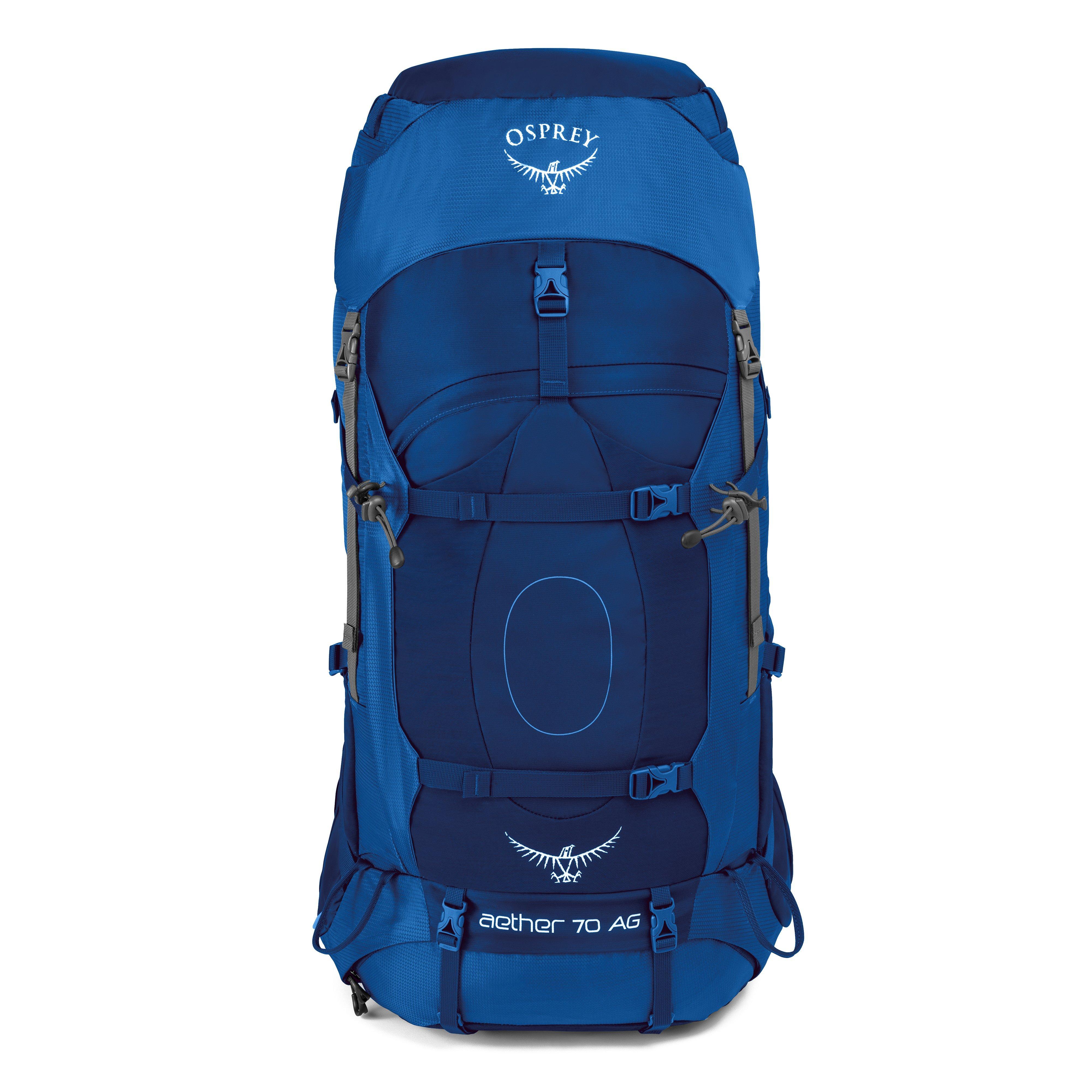 598a7bee81 Osprey Aether 70L AG Medium Rucksack Blue 845136046450