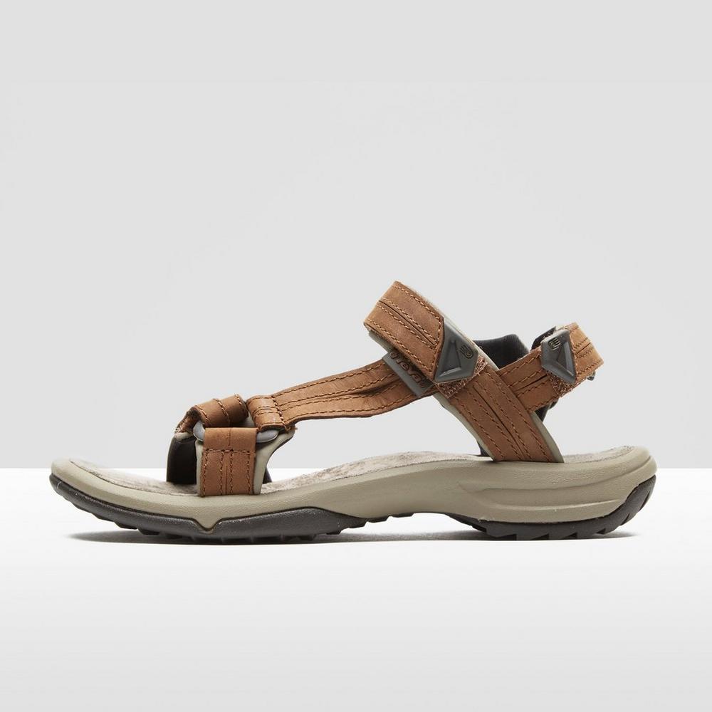 Details about Teva Terra Fi Lite Leather Women's Walking Sandals Tan