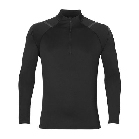 bbd9390a44 PERF BLACK ASICS Men's Icon LS ½ Zip Top ...