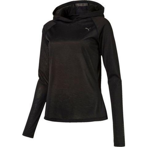 8a47103cd6d PUMA BLACK Puma Women's LS Hoody Tee