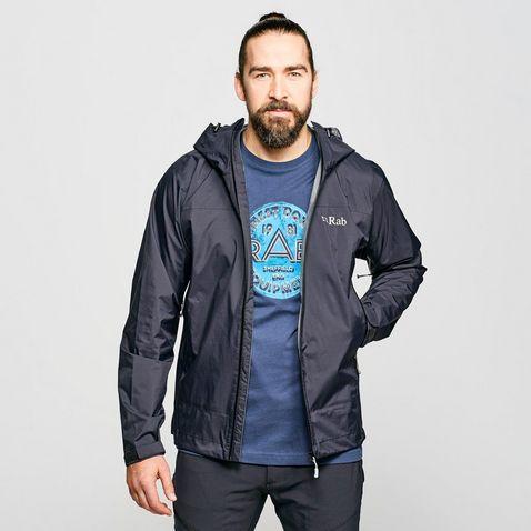 2f4deee60d440 Black RAB Men's Downpour Plus Waterproof Jacket