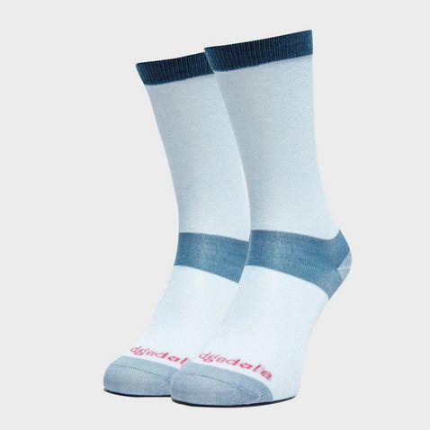 66685a0521e3 Sky BRIDGEDALE Women's Base Layer Coolmax Liner Boot Socks (2 Pairs). Quick  buy