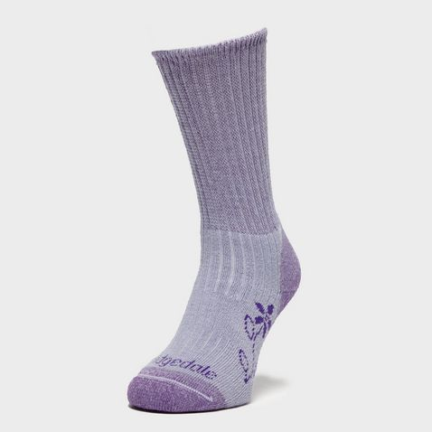 6913e83958c25 Violet BRIDGEDALE Women's Hike Midweight Merino Comfort Boot Socks