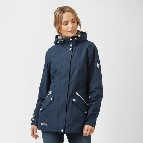cb77fb91d1 Navy REGATTA Women's Basilia Waterproof Jacket ...