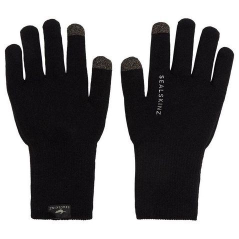 Black S SealSkinz Herren Stretch Fleece Nano Gloves
