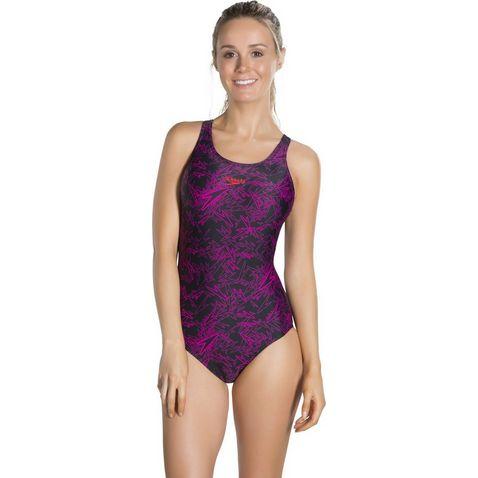fe003cd133e77 Black-Pink Speedo Boom Allover Muscleback Swimsuit ...