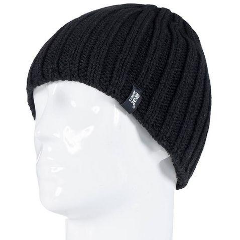 f4541496e1c Black HEAT HOLDERS Men s Chunky Rib Hat