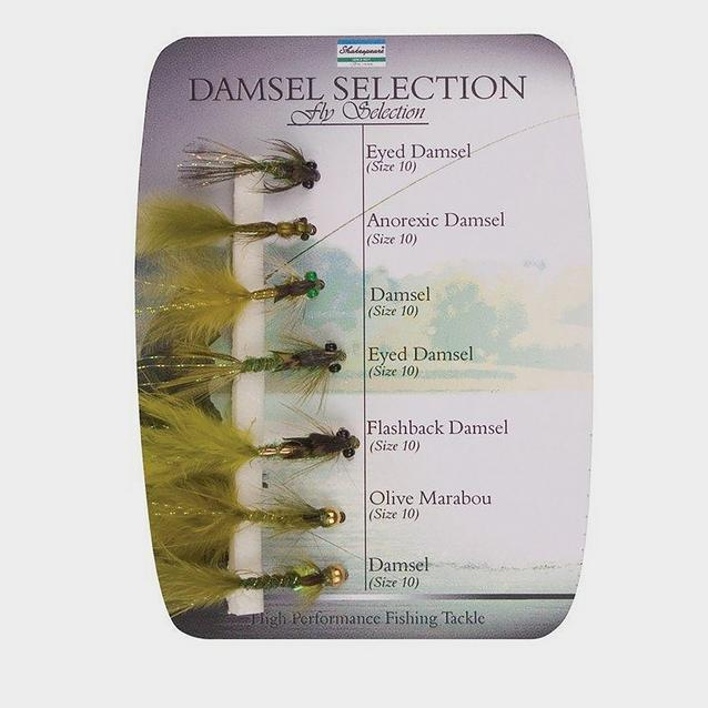 Multi Shakespeare Sigma Fly Selection 4 Damsel Nymphs image 1
