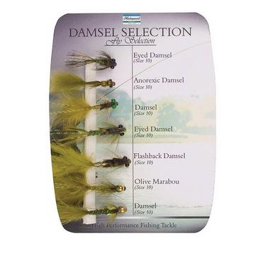 Multi Shakespeare Sigma Fly Selection 4 Damsel Nymphs