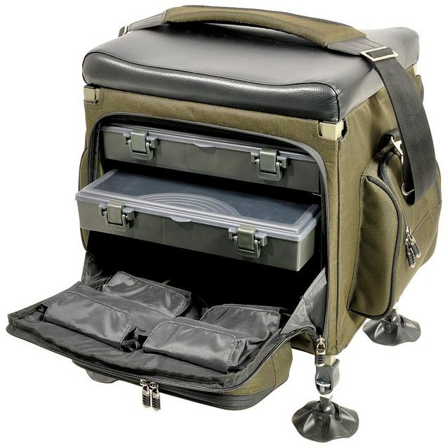 Green TFGEAR Compact Tackle Seat Box image 1