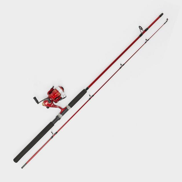 Red Shakespeare Firebird II Rod and Reel Combo image 1