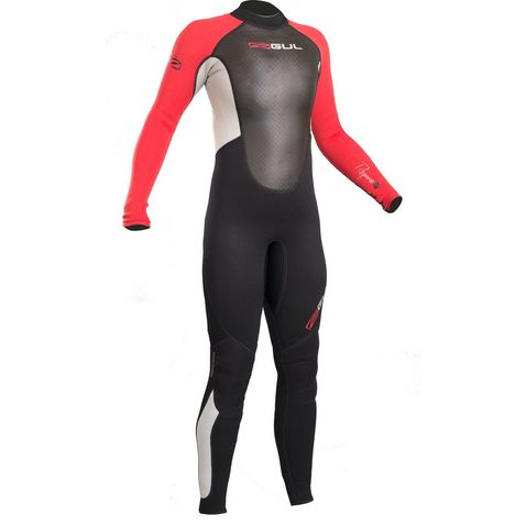 0a83207358dd Black-Red GUL Junior Boy's Response 3-2mm Flatlock Steamer Wetsuit ...