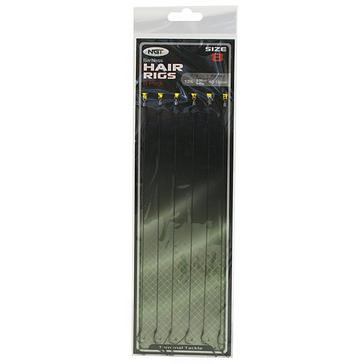 Black NGT Six Pack Barbless Hair Rigs (Size 8)