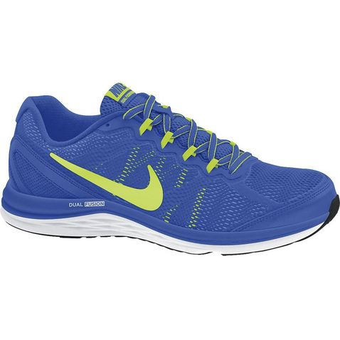 a122578e72e8 BLUE-YELLOW Nike Dual Fusion Run 3 Men s Running Shoe ...