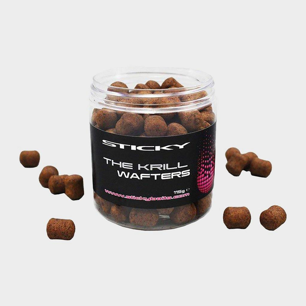 Brown Sticky Baits Krill Wafters Dumbells image 1