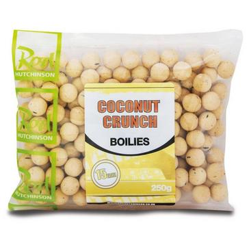 Yellow R Hutchinson Coconut Crunch Boilies 15mm 250g