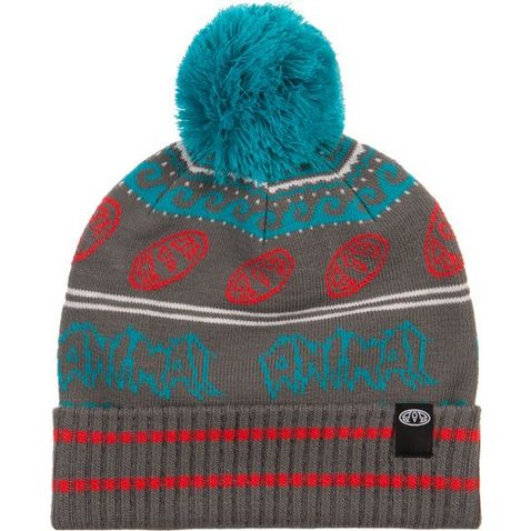 2ddd500230a PEWTER GREY ANIMAL Aari Kids  Knitted Bobble Beanie