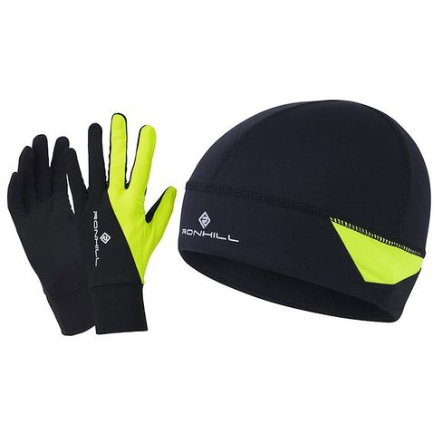 d43be005c53 Black-Fluo Yell RONHILL Beanie   Glove Set