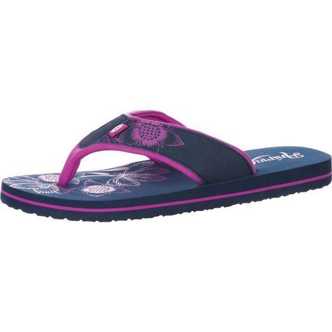 7d255a412 Navy Blue ANIMAL Swish Placement Women s Flip Flops ...