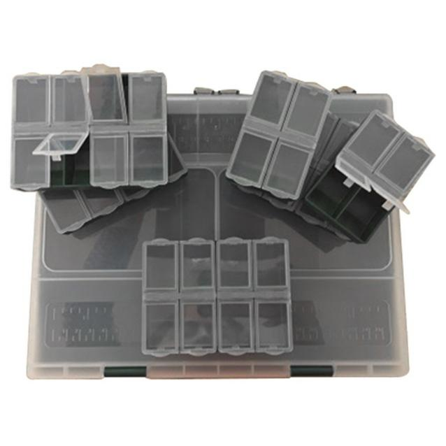 Black FLADEN Fishing Spec 10 Sect Box Plus 6 Boxes image 1