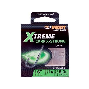 Silver Middy Xtreme X-strong Carp Barbless Hooks 14 x 0.20mm