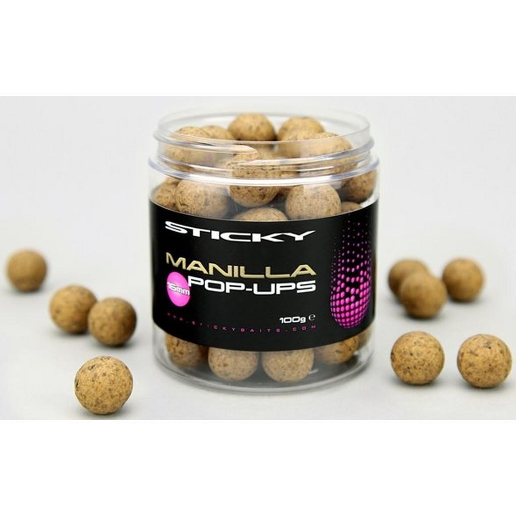 Brown Sticky Baits Manilla Pop Ups 16Mm 100G Pot image 1